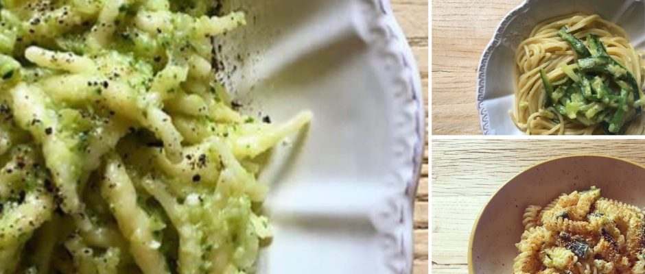5 idee veloci di primi piatti con le zucchine